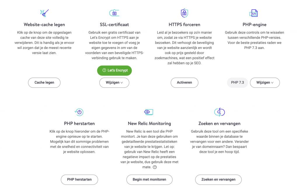 Kinsta tools - veel mogelijkheden voor de gemiddelde gebruiker